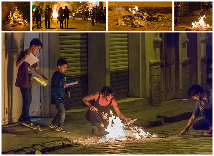 New Year's Eve Cuenca Ecuador 2016 - fire-small