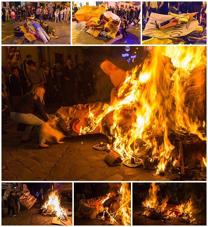 New Year's Eve Cuenca Ecuador 2016 - fire-large