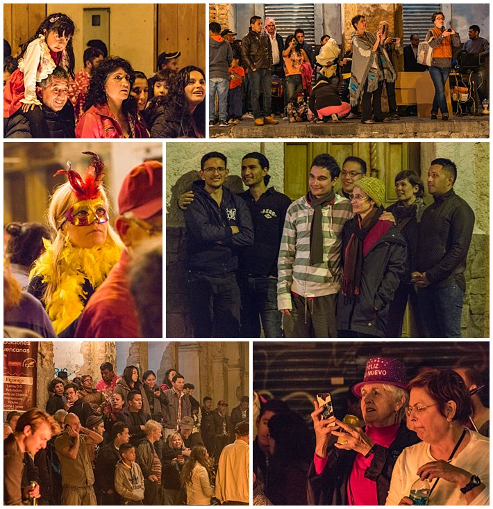 New Year's Eve Cuenca Ecuador 2016 - fire-audience
