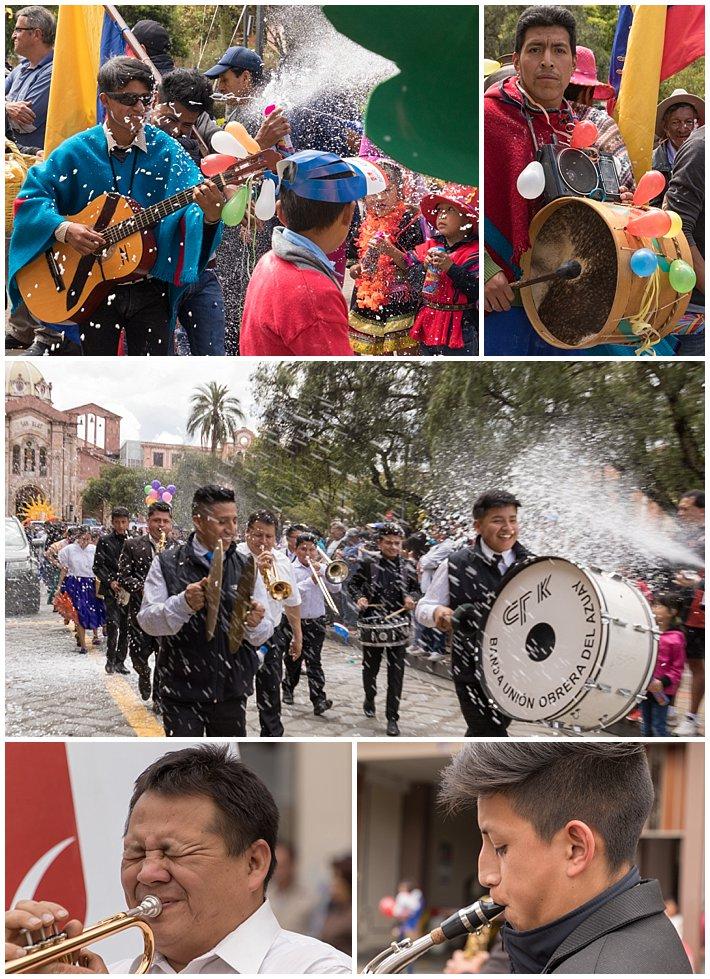 Orquidea Parade 2017 in Cuenca, Ecuador - music