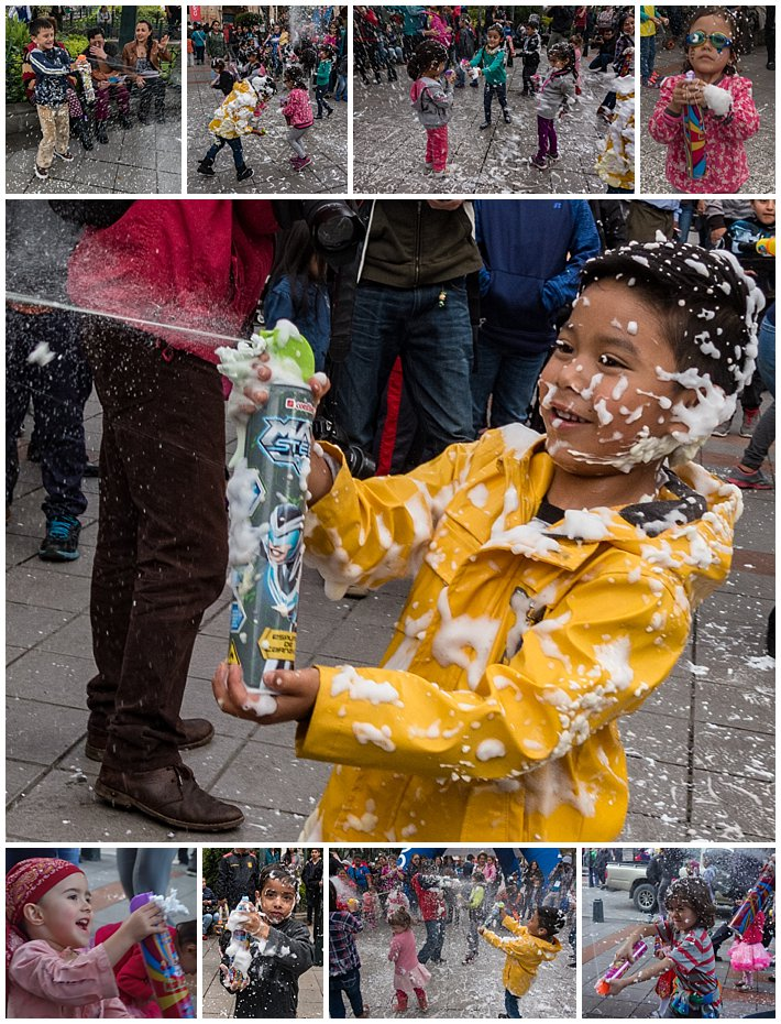 Foam Attack, Godparent's Day 2017 in Cuenca, Ecuador - kids
