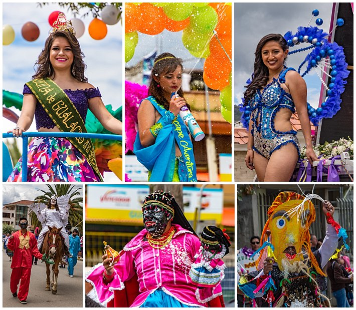 Gualaceo Ecuador Carnaval 2017 - queens and masks