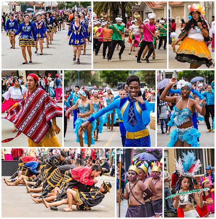 Gualaceo Ecuador Carnaval 2017 - dancers