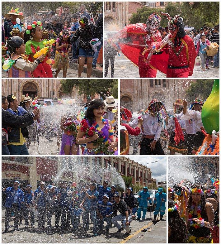 Orquidea Parade 2017 in Cuenca, Ecuador - foam