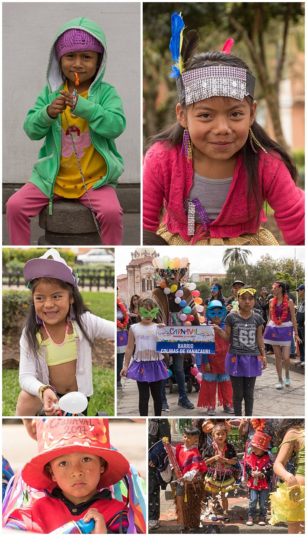Orquidea Parade 2017 in Cuenca, Ecuador - kids
