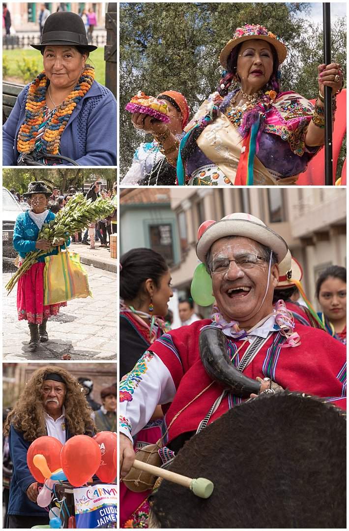 Orquidea Parade 2017 in Cuenca, Ecuador - old