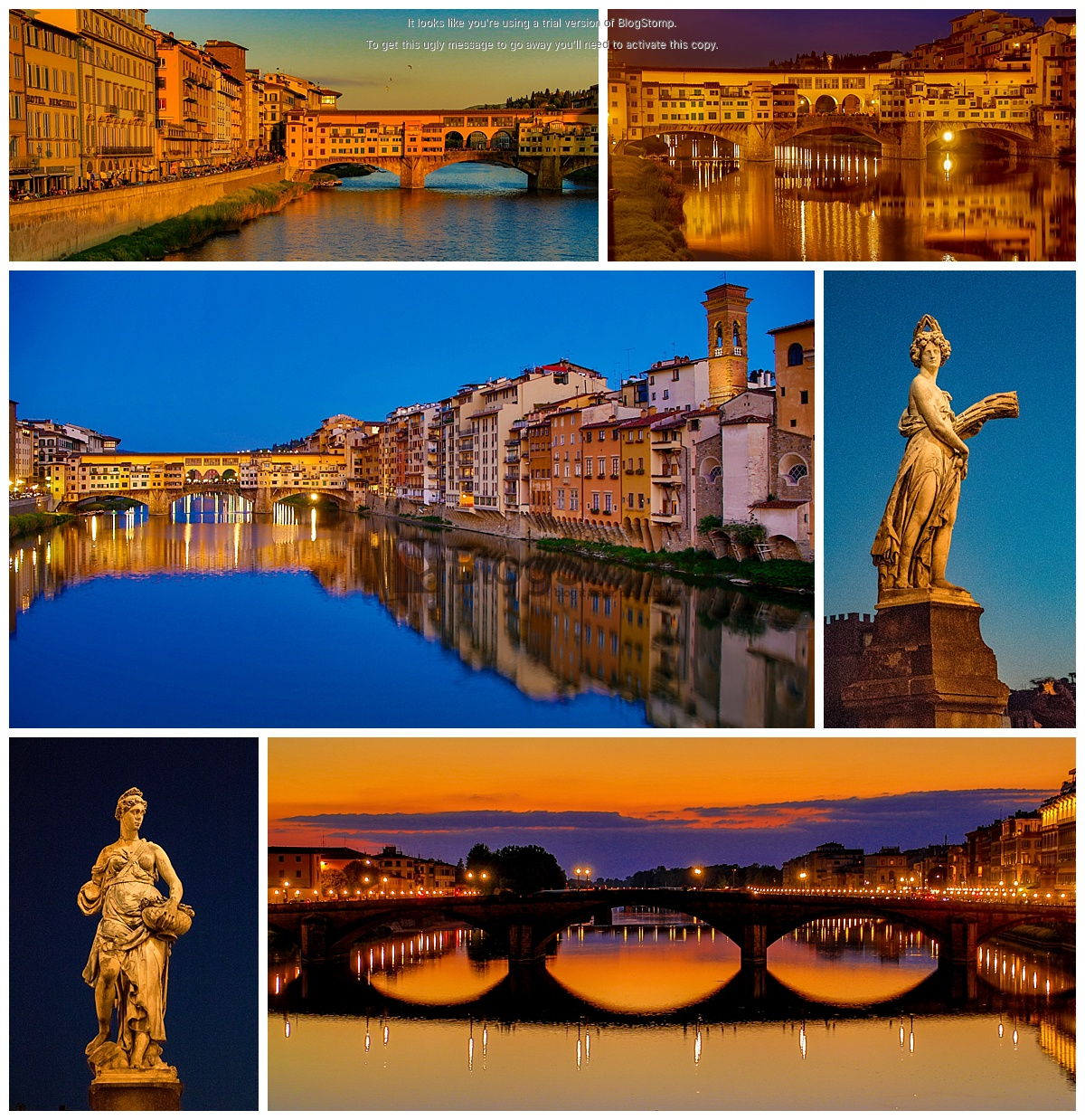Florence, Italy bridge sunset