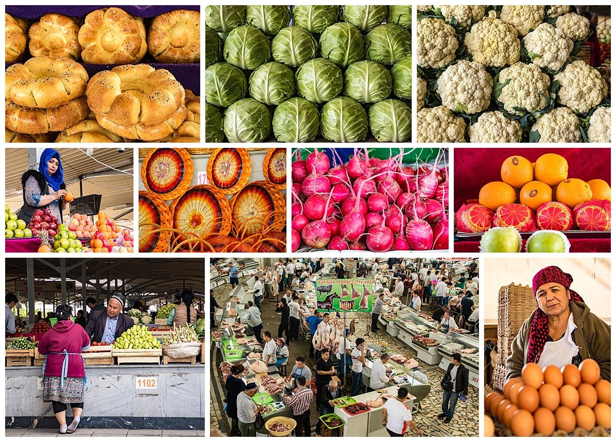 Tashkent, Uzbekistan - market food
