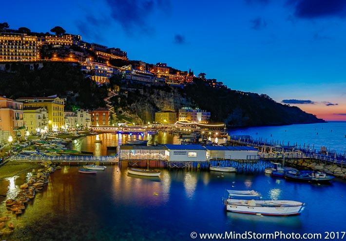 Amalfi Coast, Italy - sunset