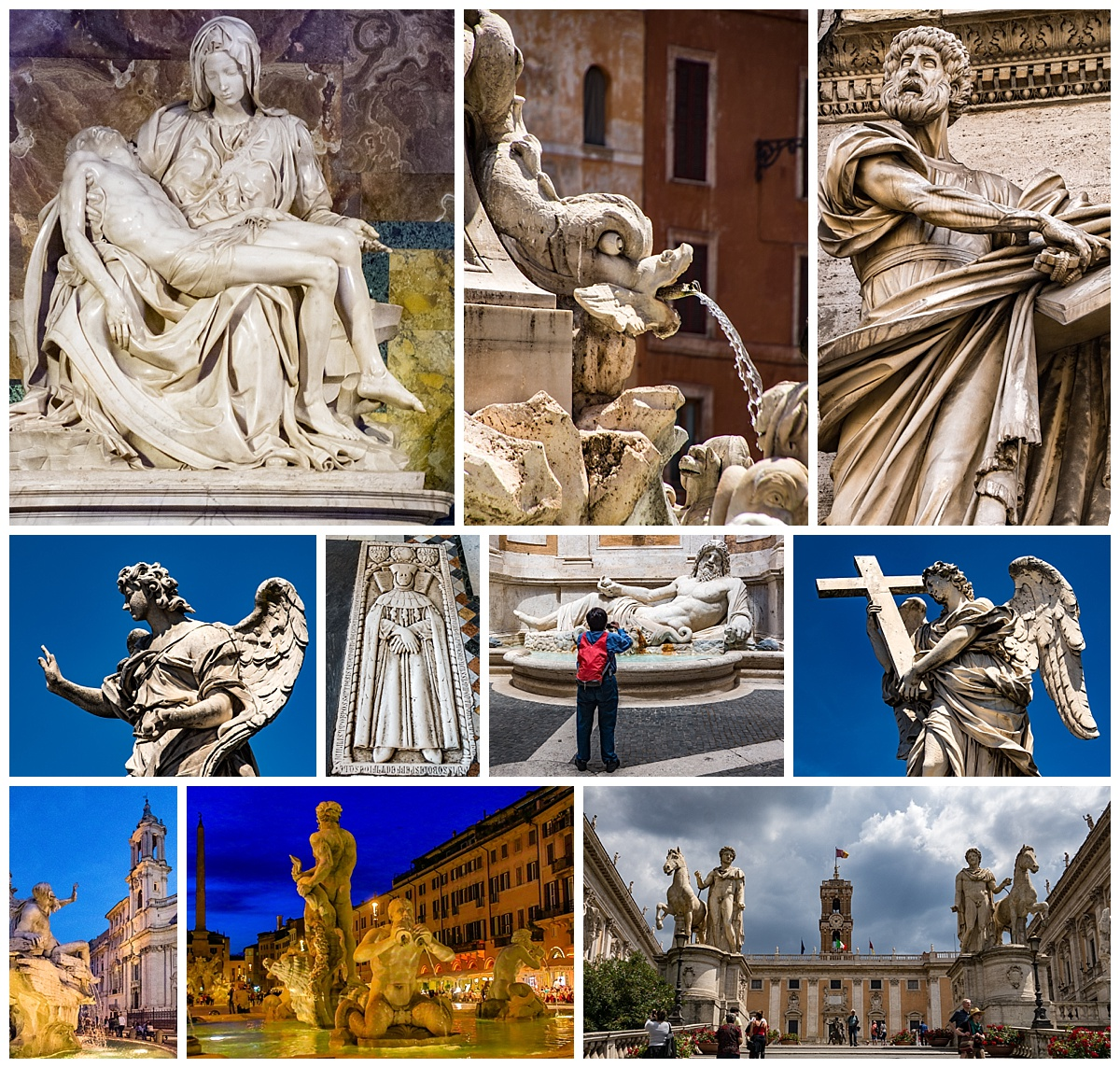 Rome, Italy - statues
