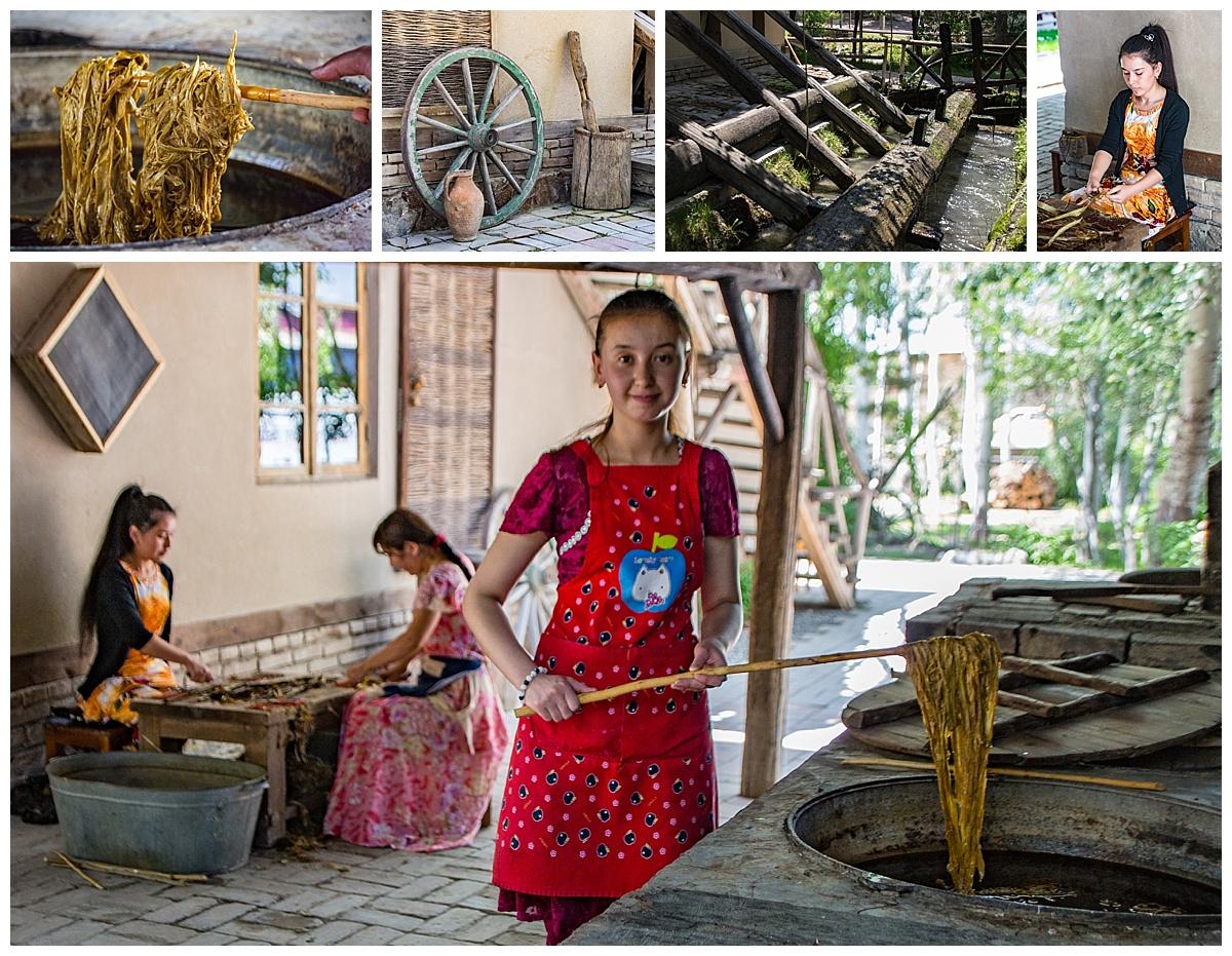 Samarkand, Uzbekistan - making silk paper