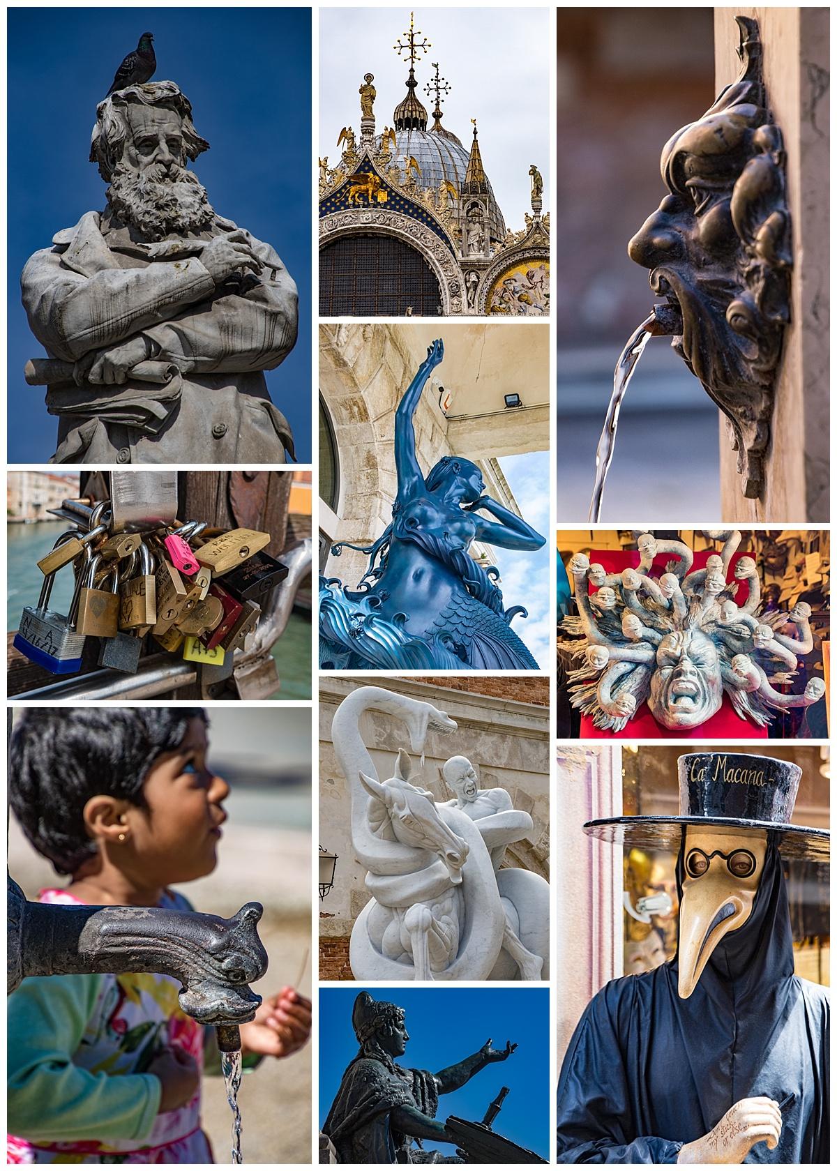 Venice, Italy - statues