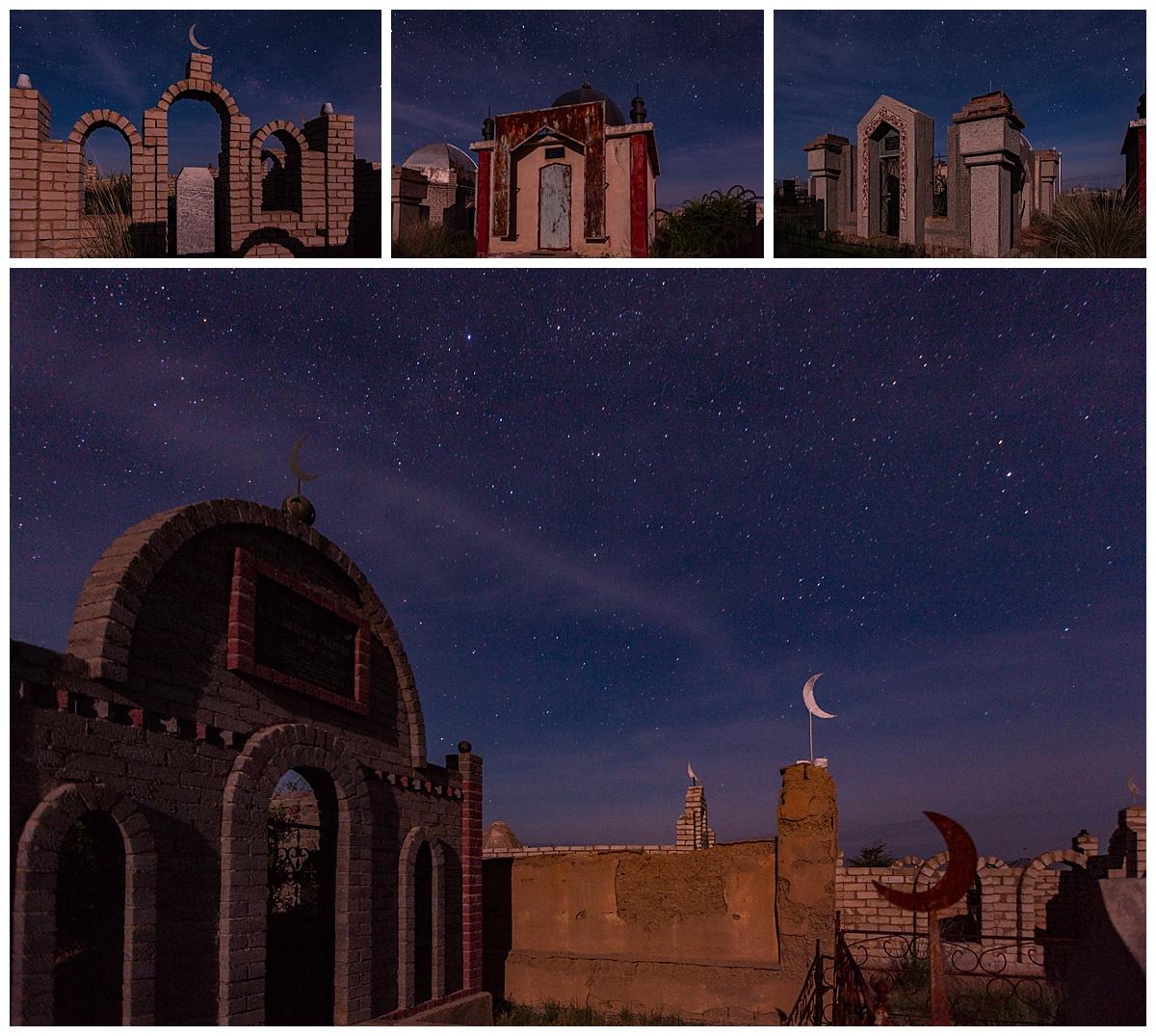 Almaty, Kazakhstan - cemetery stars