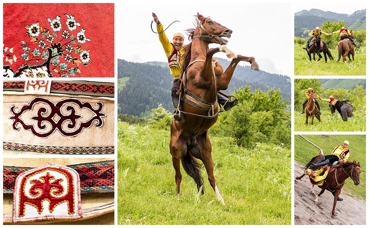 Almaty, Kazakhstan - villiage horses
