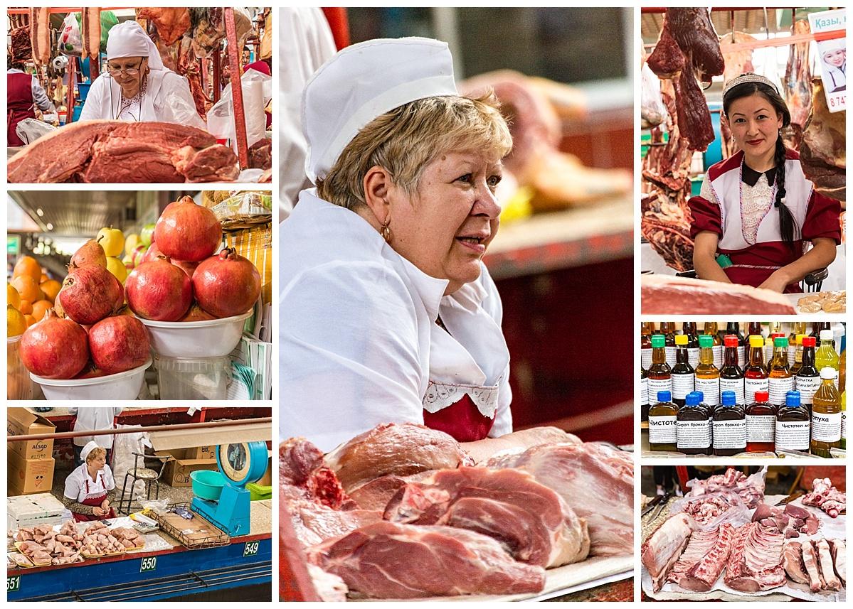Almaty, Kazakhstan - market