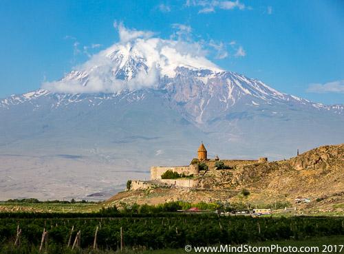Yerevan , Armenia - Mt Ararat and Geghard Monastery