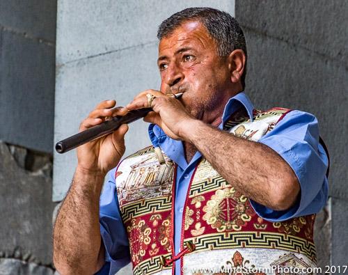 Yerevan , Armenia - duduk player