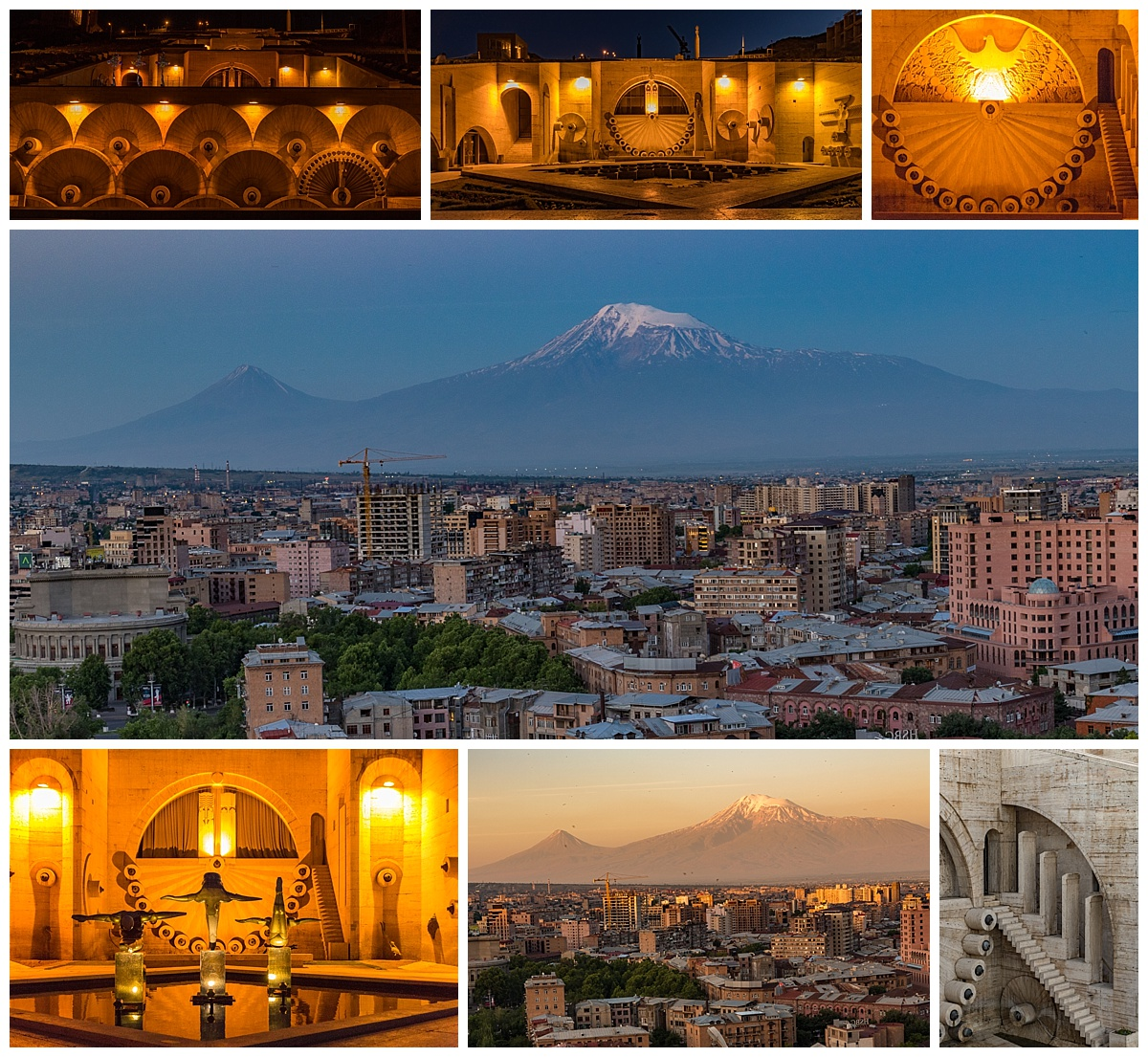 Yerevan , Armenia - mt ararat at dawn