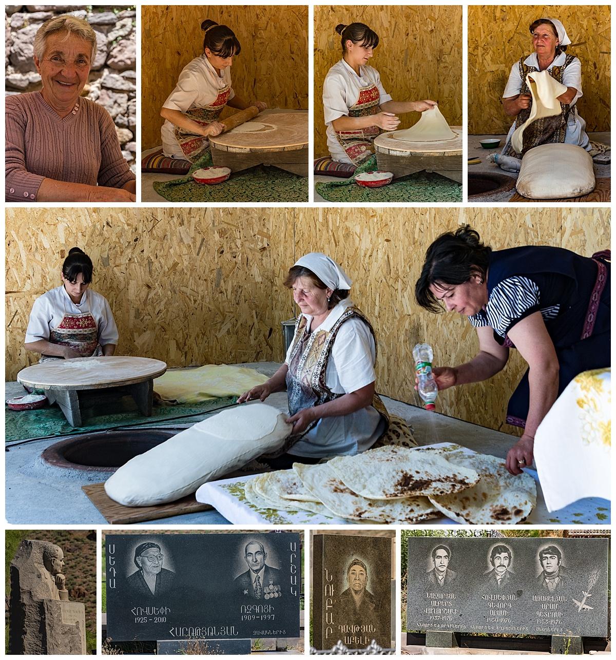 Yerevan , Armenia - bread and cemetary
