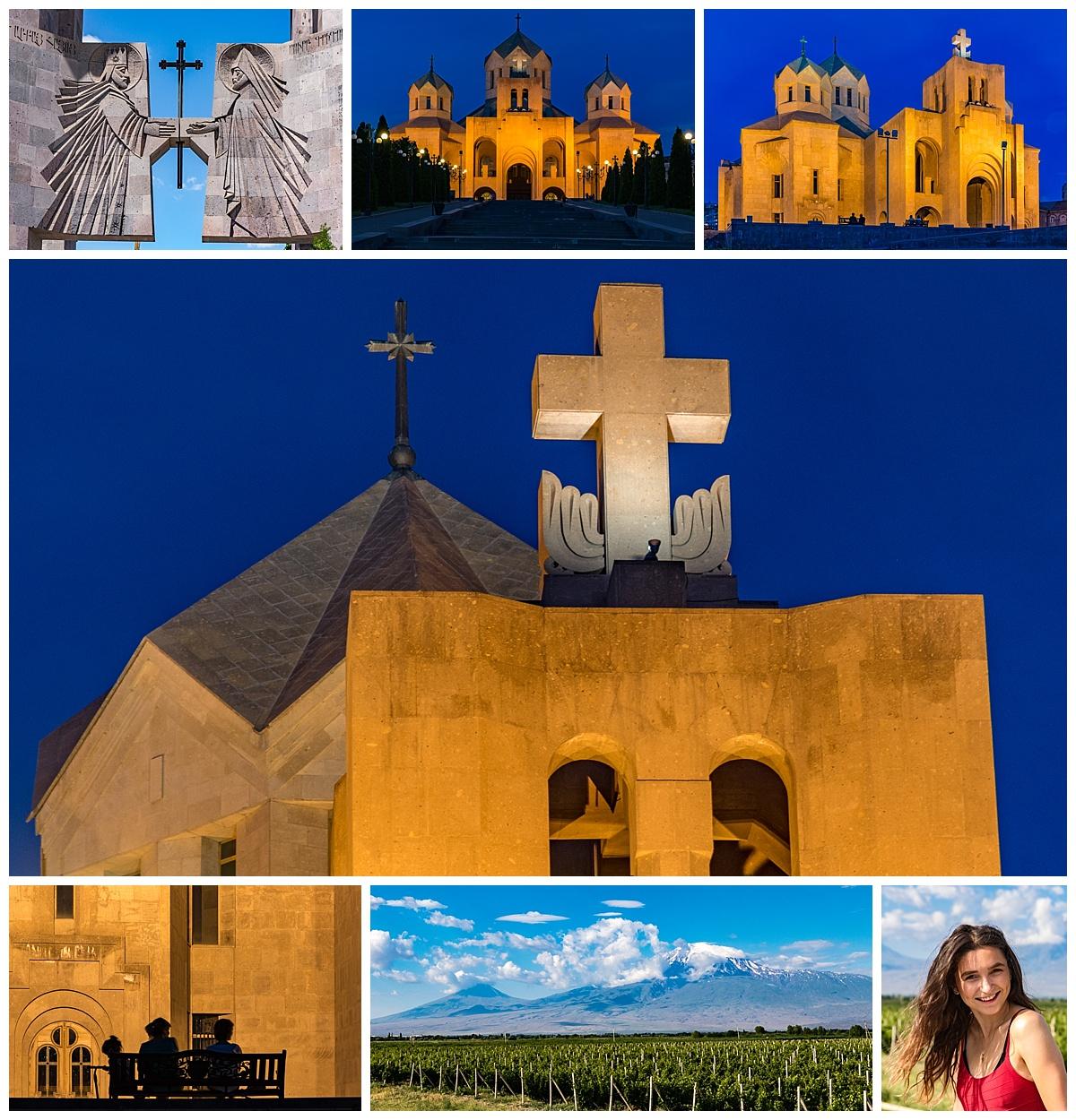 Yerevan , Armenia - blue hour
