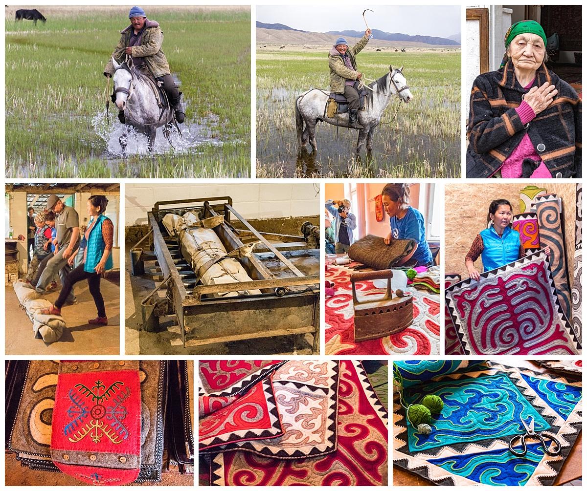 Issyk Kul, Kyrgyzstan - felt manufacture
