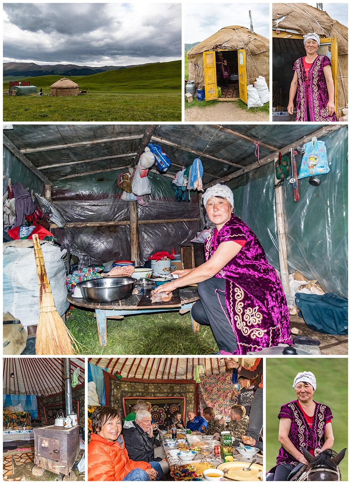 Kazakhstan - high alpine yurt lunch