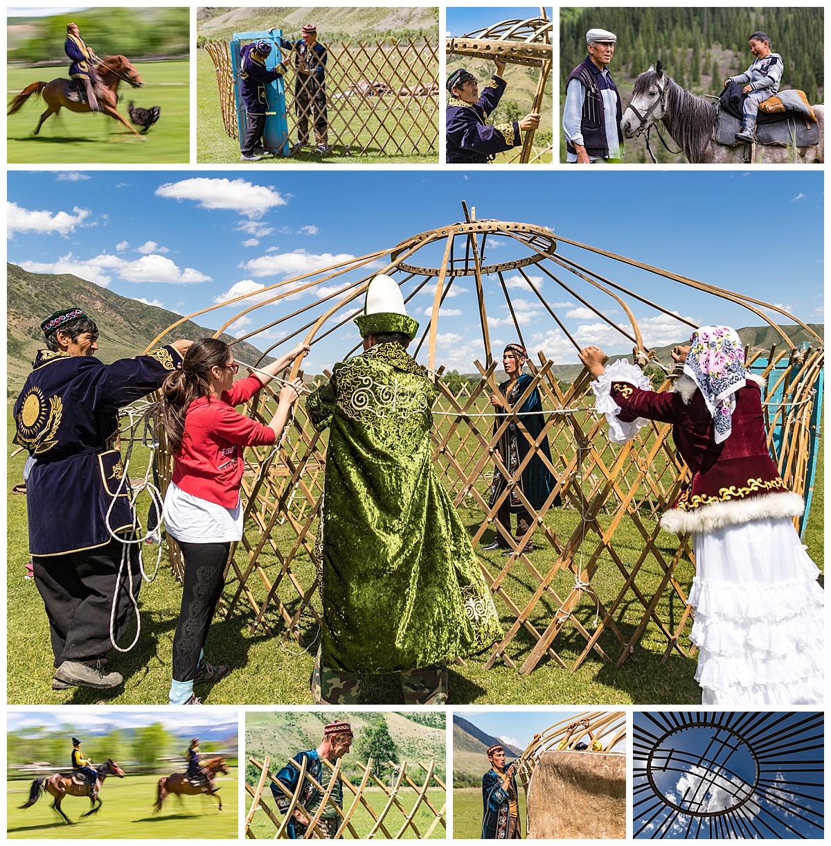 Kazakhstan - yurt raising