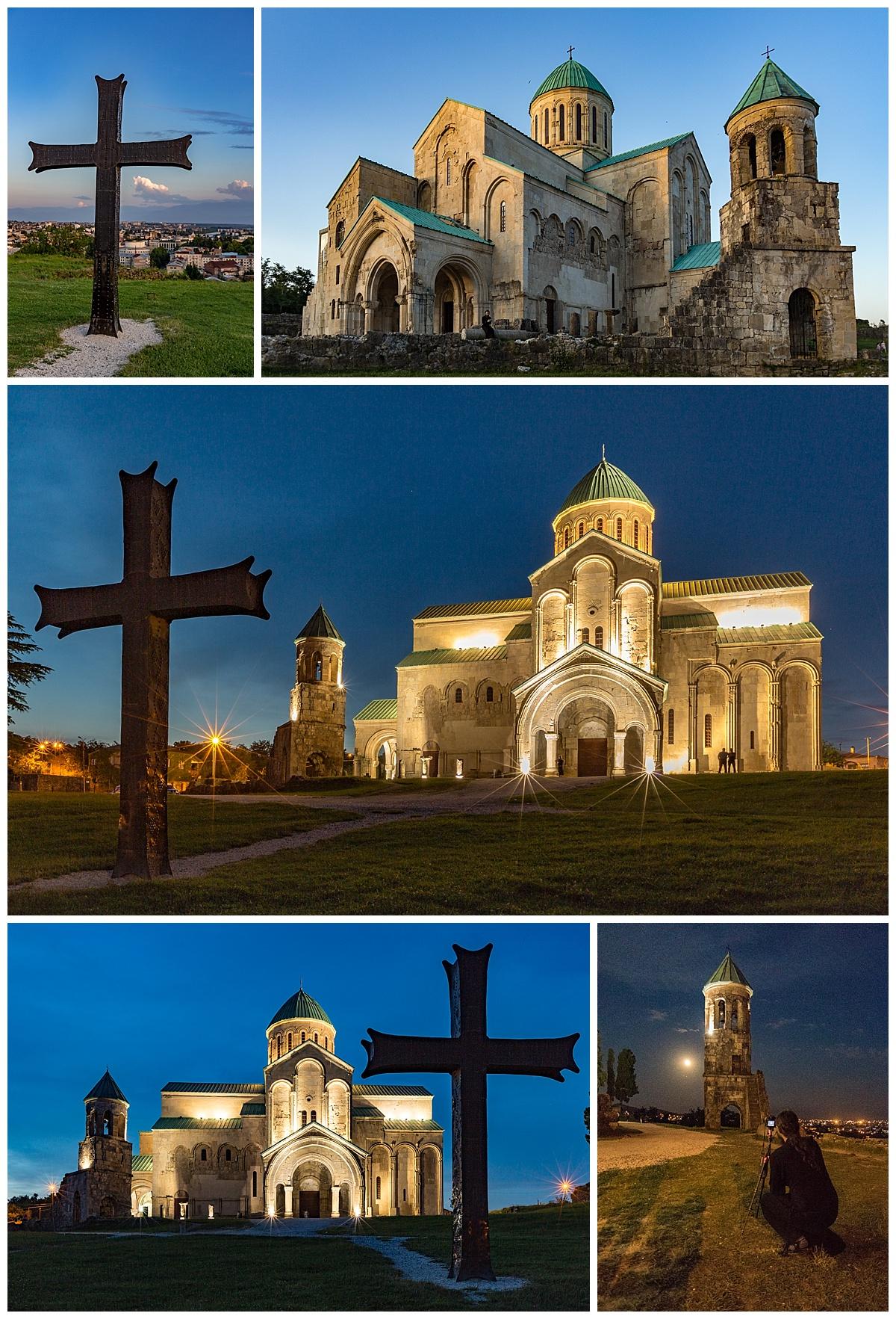 Kutasi, Georgia - cathedral at night
