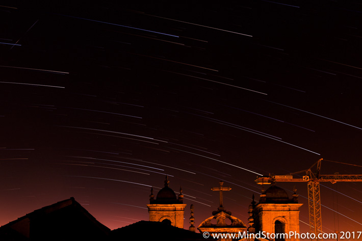 Porto - a1 star trails from apt window