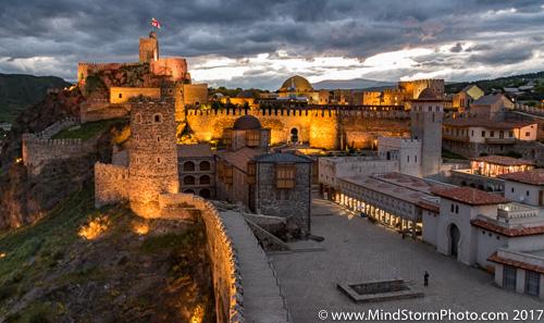 Akhaltsikhe, Georgia - Rabati castle, overall sunset