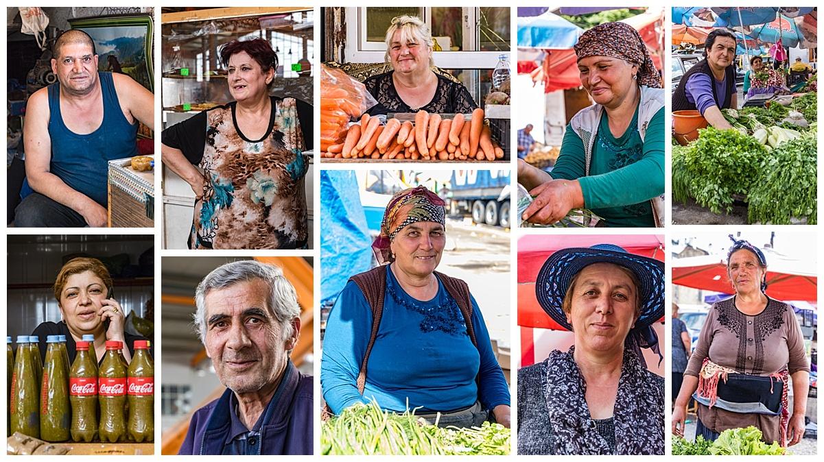 Tbliski, Georgia - market