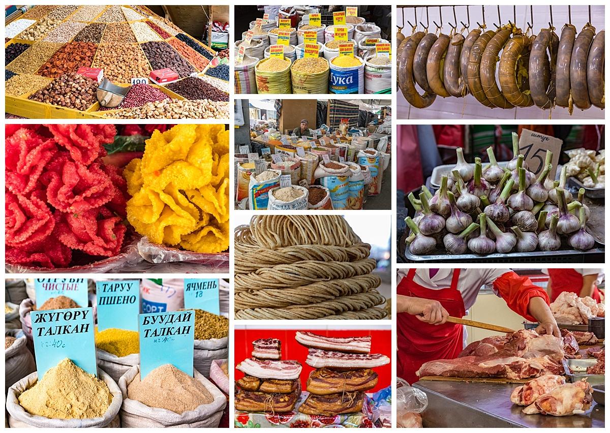 Biskek, Kyrgyzstan - market produce