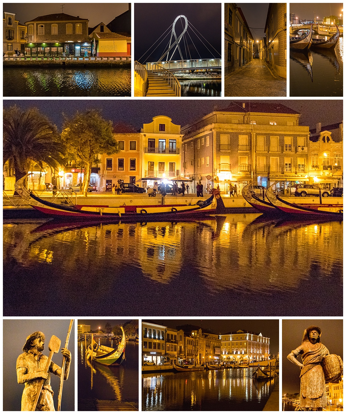 Aveiro 2 - canals at night