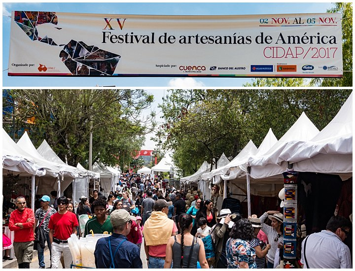 Festival de artesanias de America 2017, Cuenca, Ecuador - overview