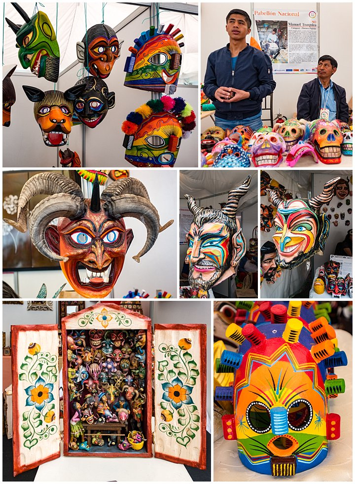Festival de artesanias de America 2017, Cuenca, Ecuador - masks