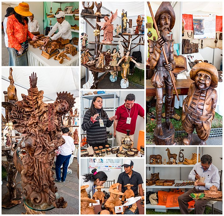 Festival de artesanias de America 2017, Cuenca, Ecuador - wood