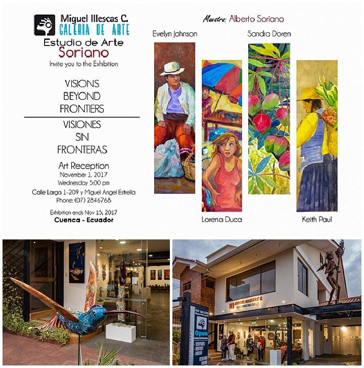 Evelyn Johnson art show Cuenca, Ecuador Nov 1, 2017 - venue
