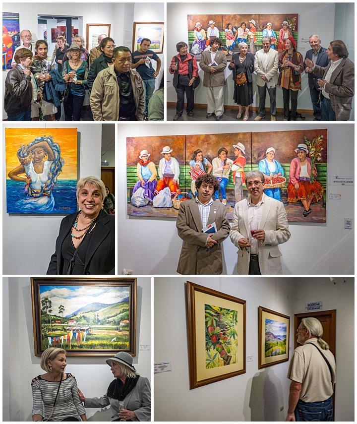 Evelyn Johnson art show Cuenca, Ecuador Nov 1, 2017 - art