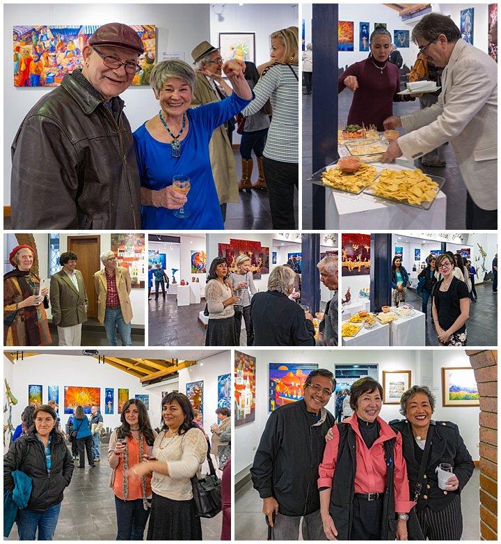 Evelyn Johnson art show Cuenca, Ecuador Nov 1, 2017 - people