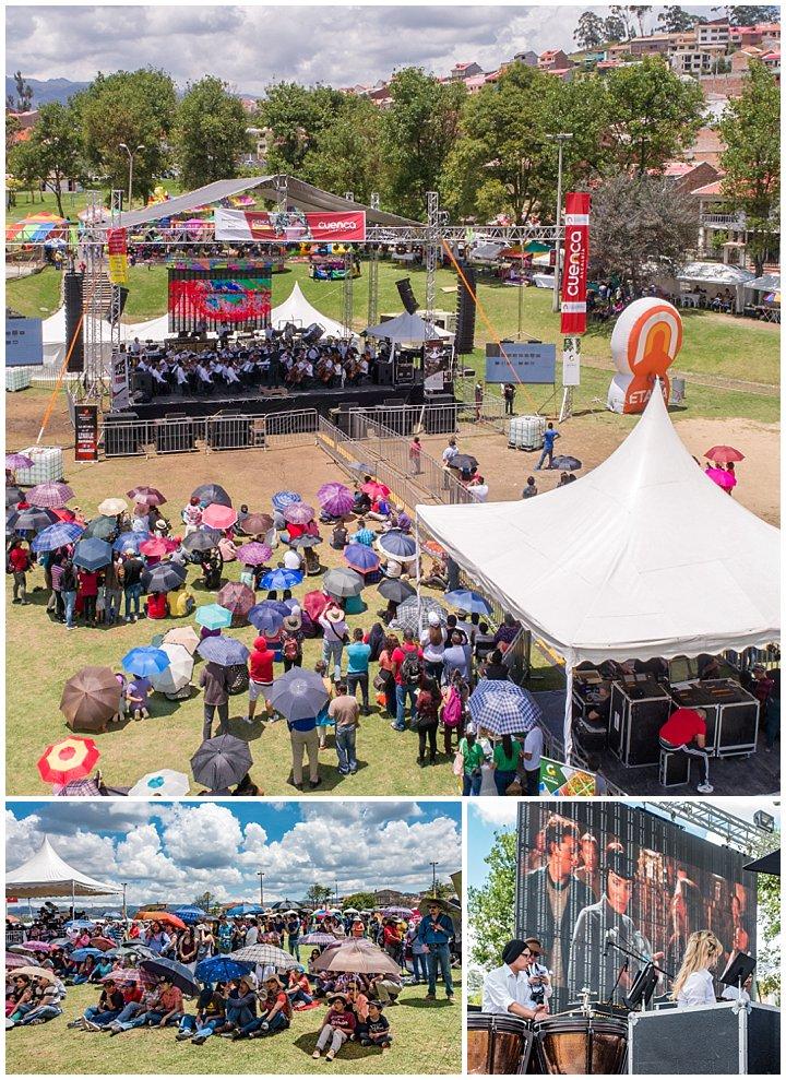 Symphony in Miraflores Park, Cuenca, Ecuador - crowds