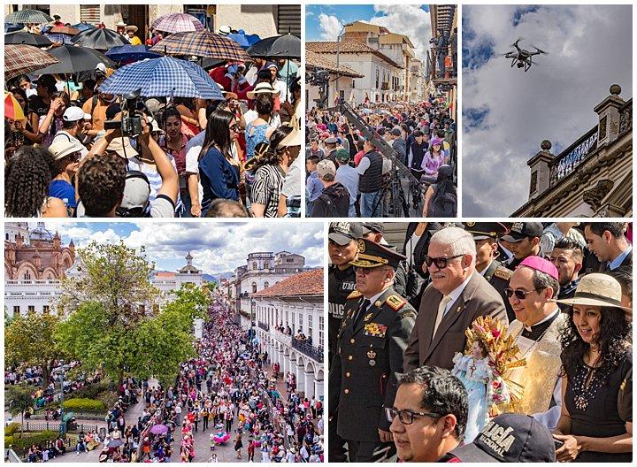 2017 Paseo del Nino in Cuenca, Ecuador - crowds and mayor