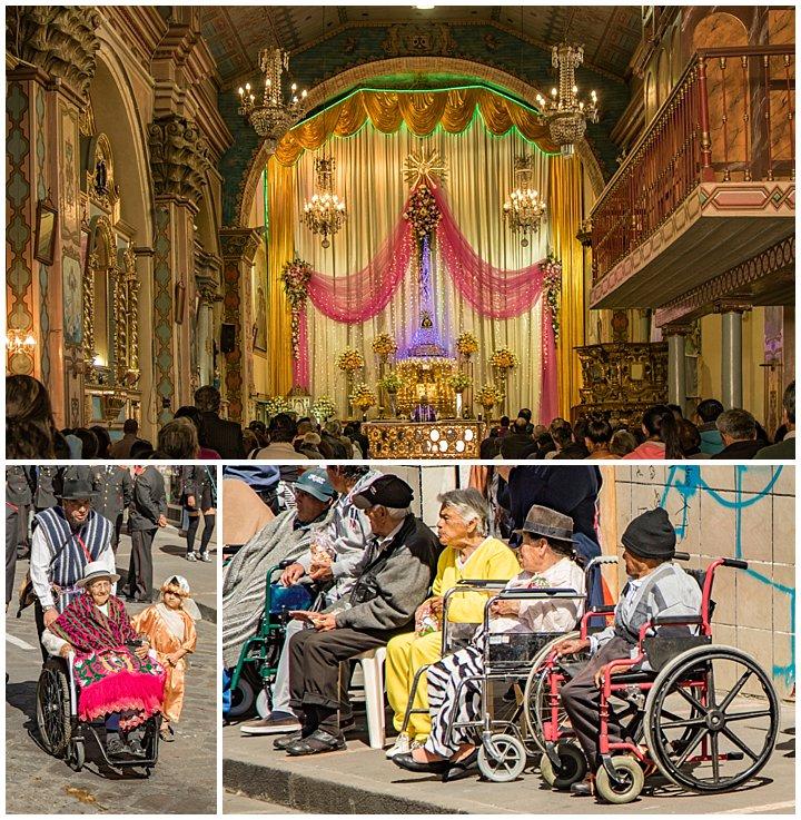 2017 Paseo del Nino in Cuenca, Ecuador - church and wheelchairs