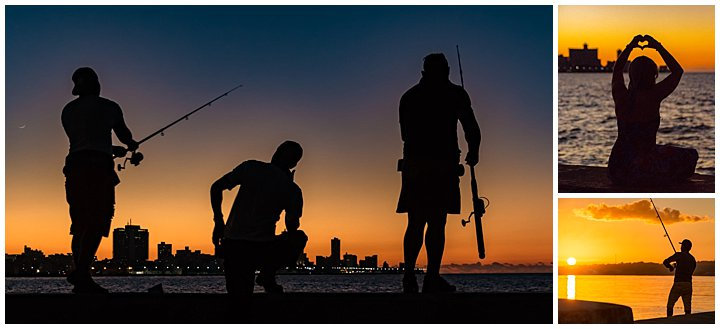 Havana, Cuba - sundown fishing