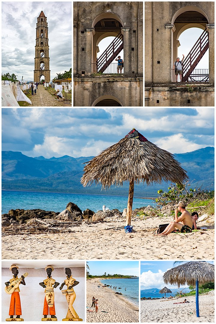 Trinidad, Cuba - beach and tower