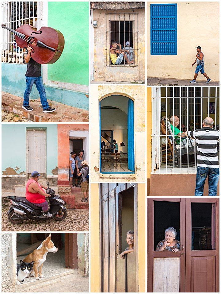 Trinidad, Cuba - people in doorways