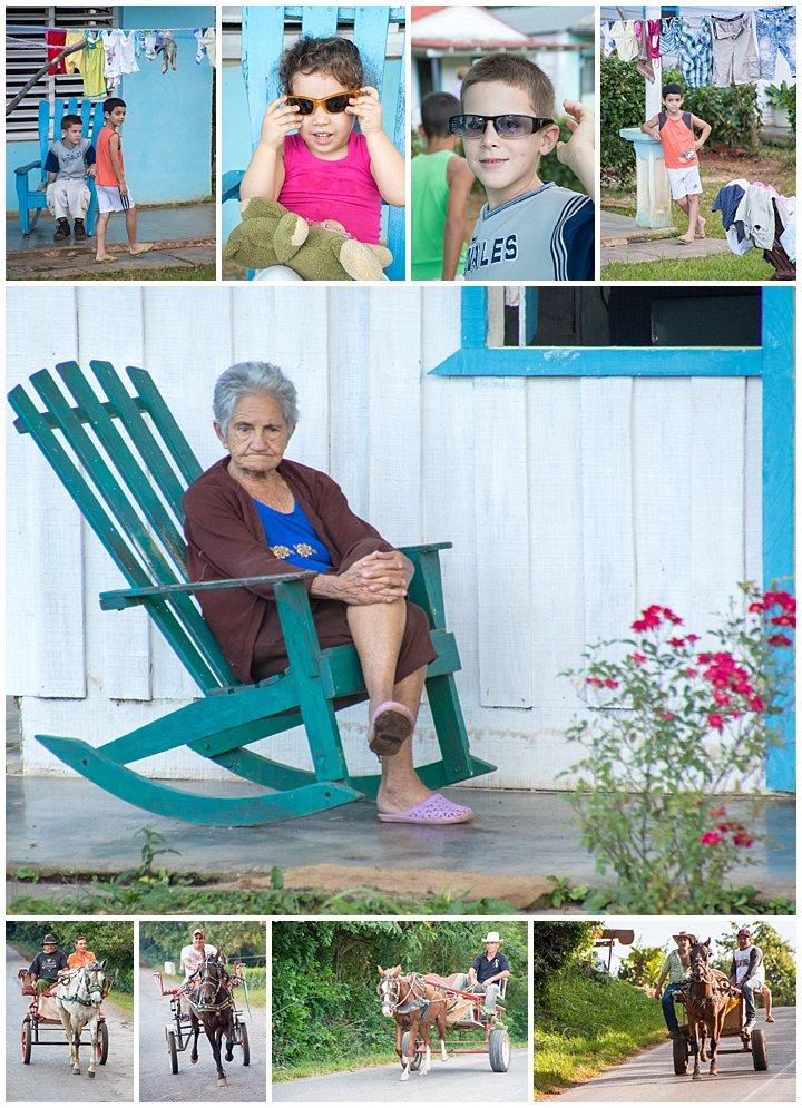Vinales, Cuba - kids and grandma
