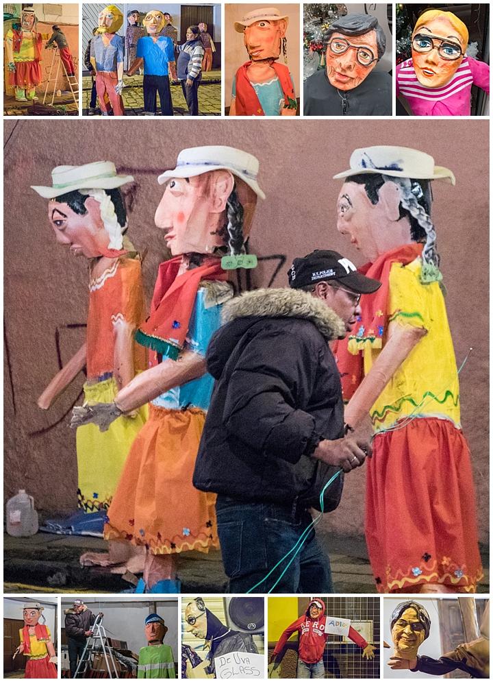 New Years Eve 2017 Cuenca, Ecuador - human effigy