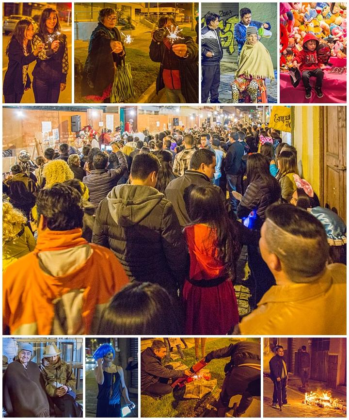 New Years Eve 2017 Cuenca, Ecuador - crowds