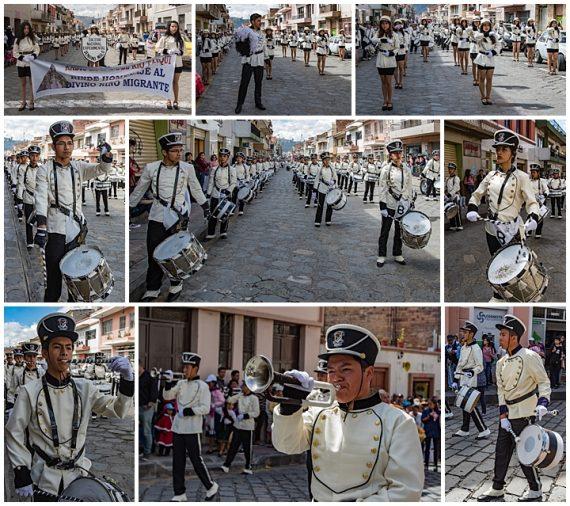 migrante parade, Cuenca, Ecuador 2018 - bands