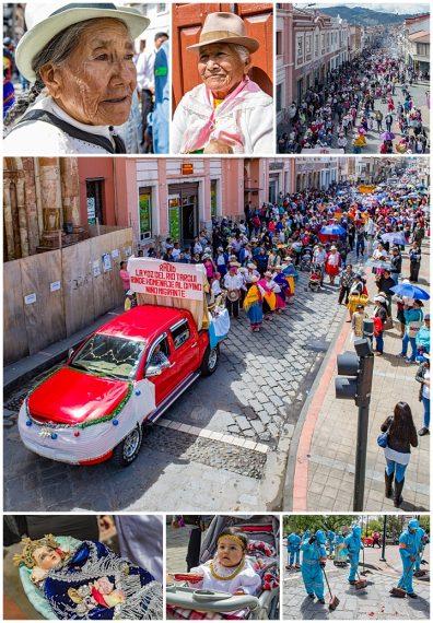 migrante parade, Cuenca, Ecuador 2018 - crowds